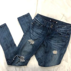 Vigoss ripped distressed fit skinny jeans size 26